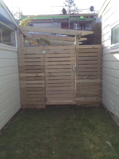 Security side gate by Constructive Landscape Solutions in Hawkes Bay