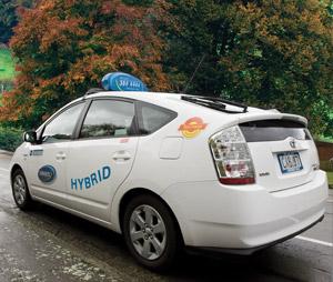 Hybrid Taxi Car