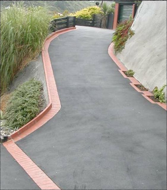 Angled Driveway with Edging