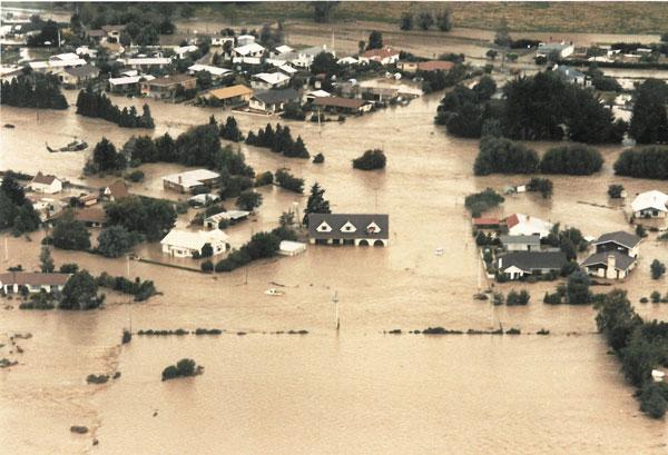 Pleasant Point Flood 1986