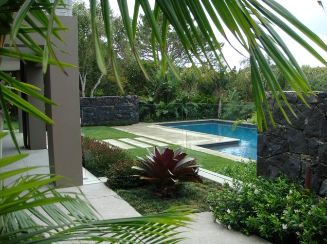 Residential garden - pool surrounds