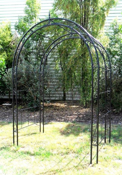 Wrought iron garden archway