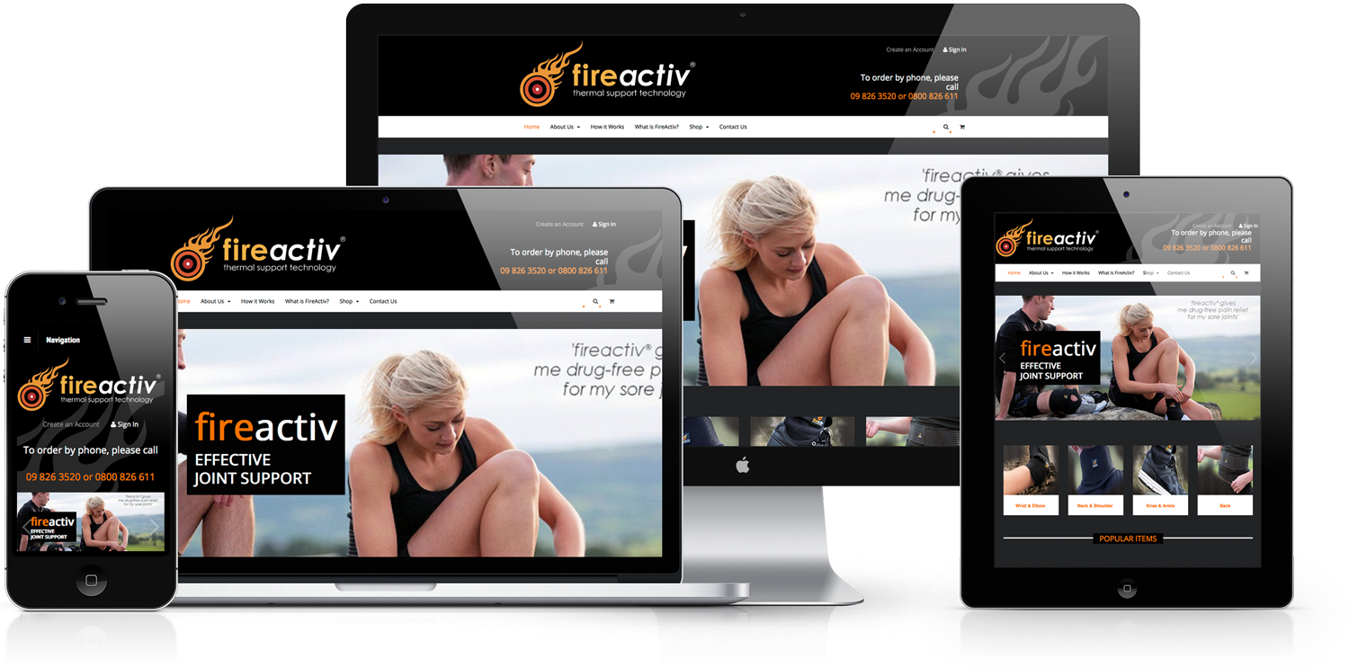 Fireactiv Shopping Cart Web Design