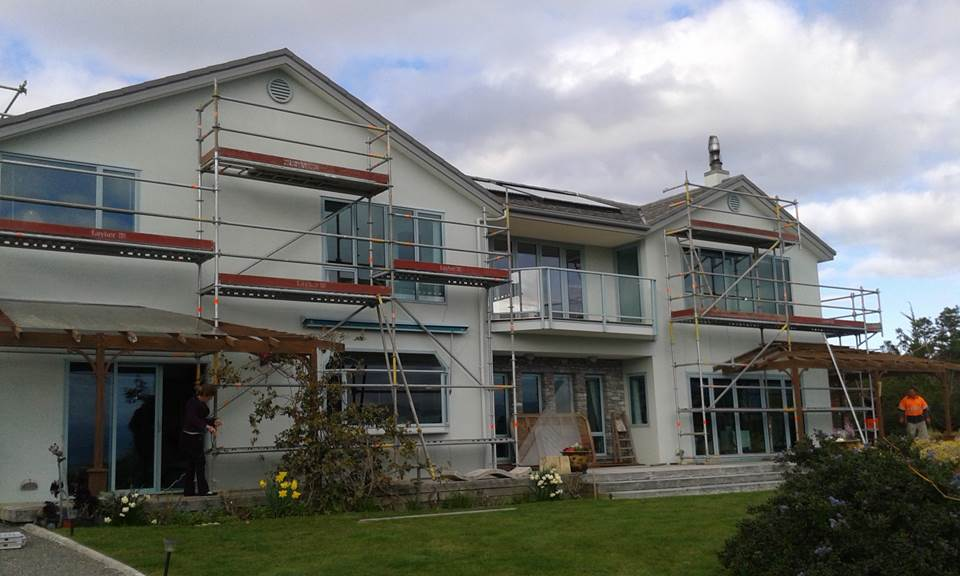 Complete exterior repaint - Scaffold up ready for us to make a start