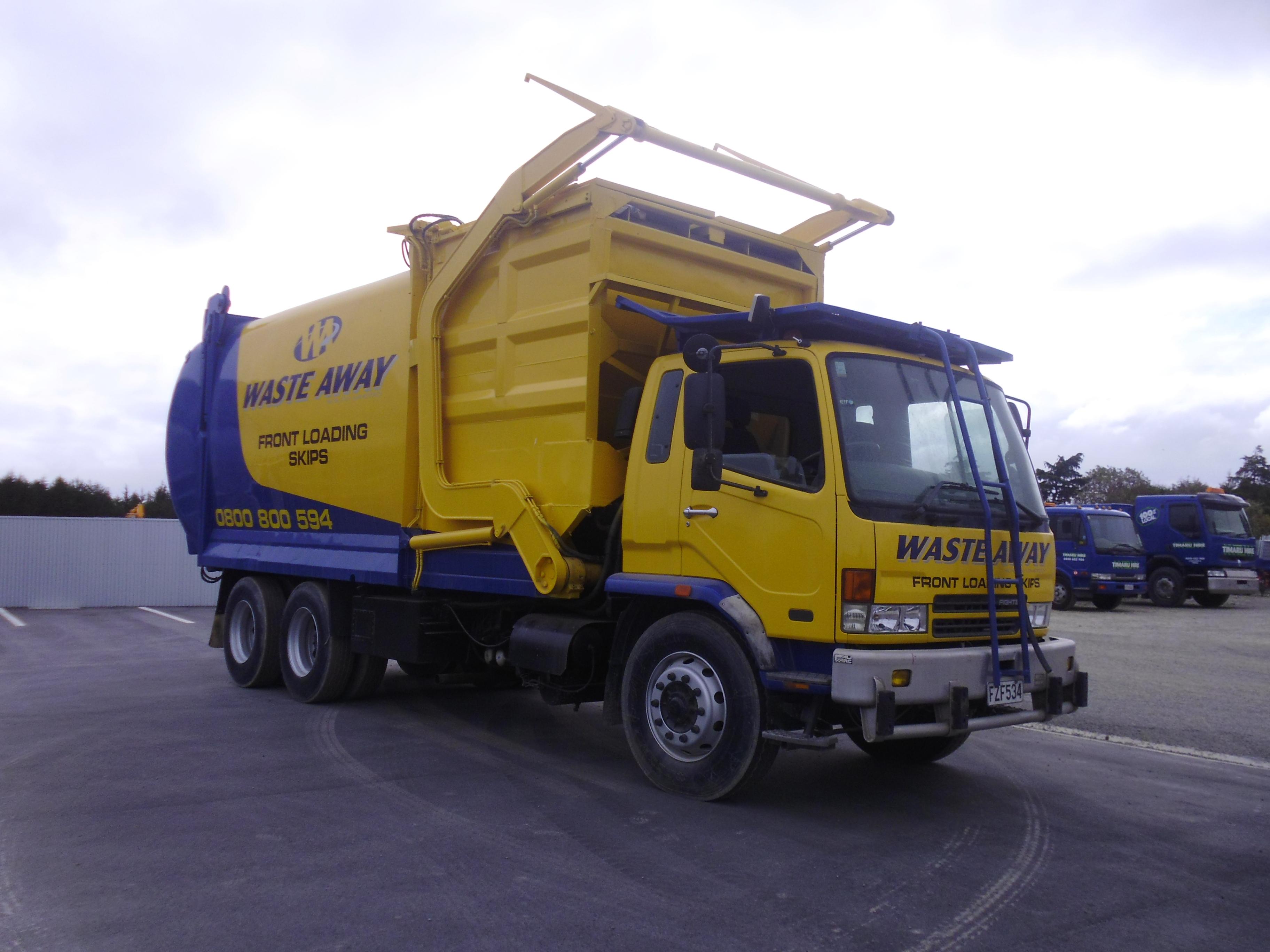Front Loading Skip Truck