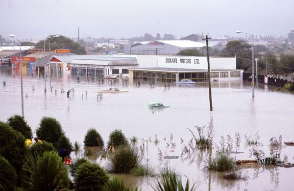 Washdyke Flood 1986