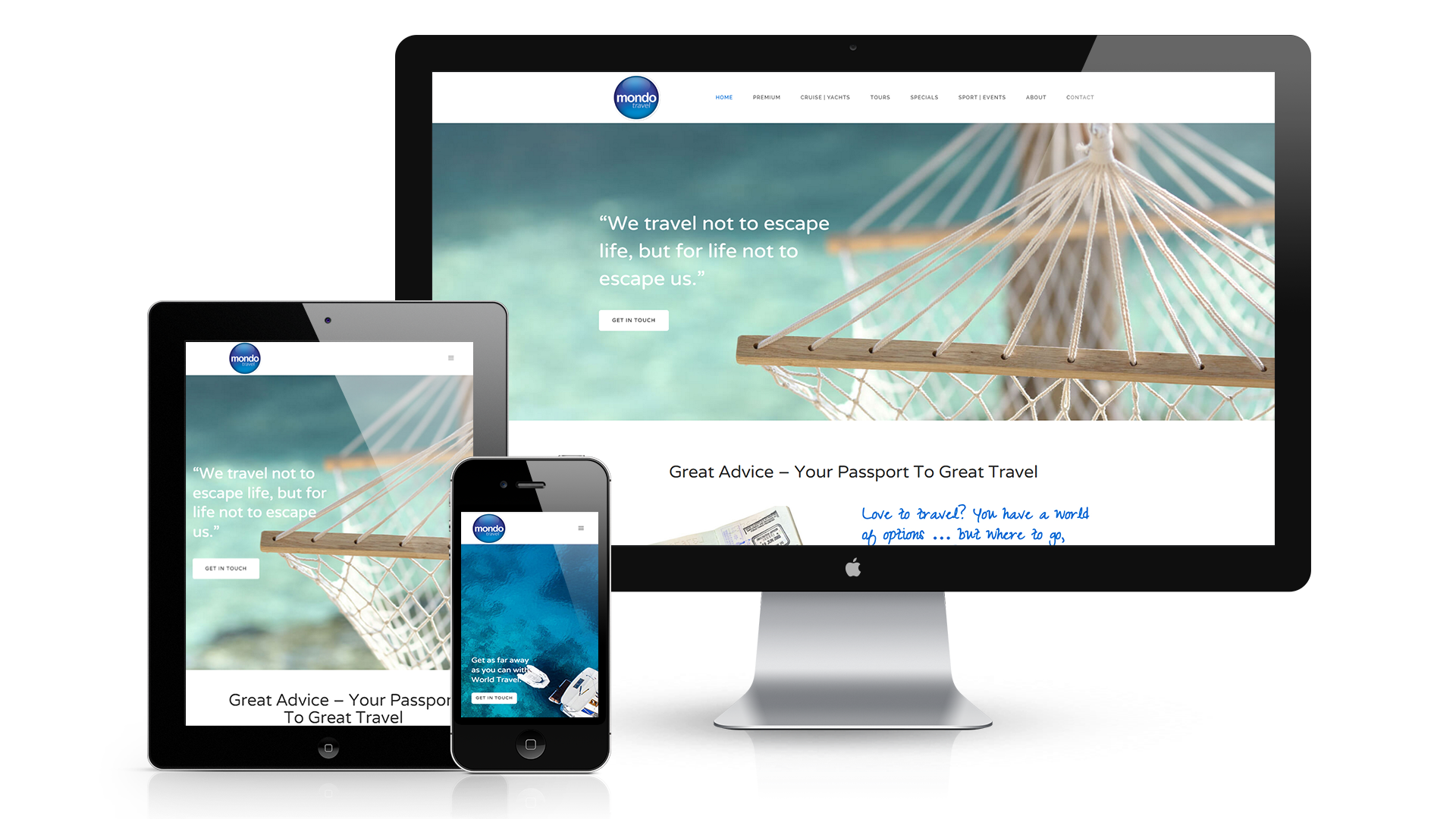Mondo Travel Takapuna Website Design