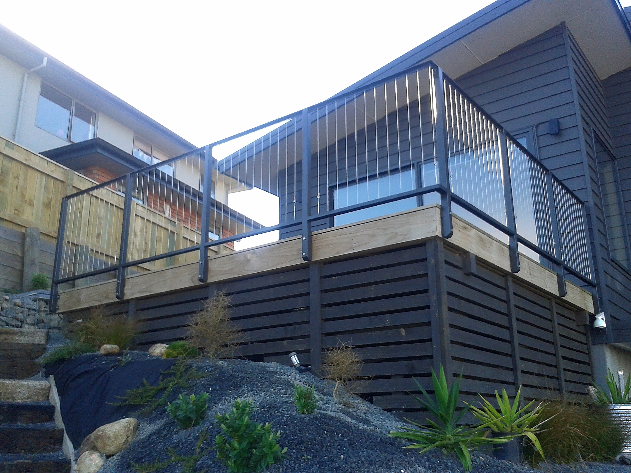 Stainless wire rope balustrade