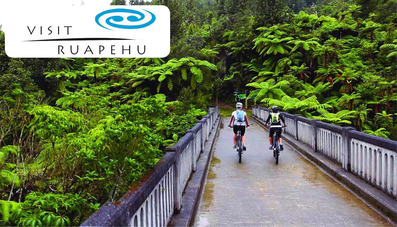 Biking through Ruapehu
