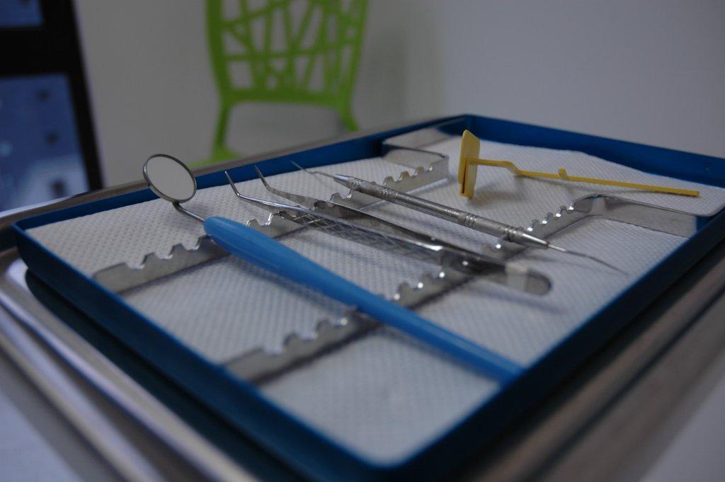 Dental Equipment on Tray