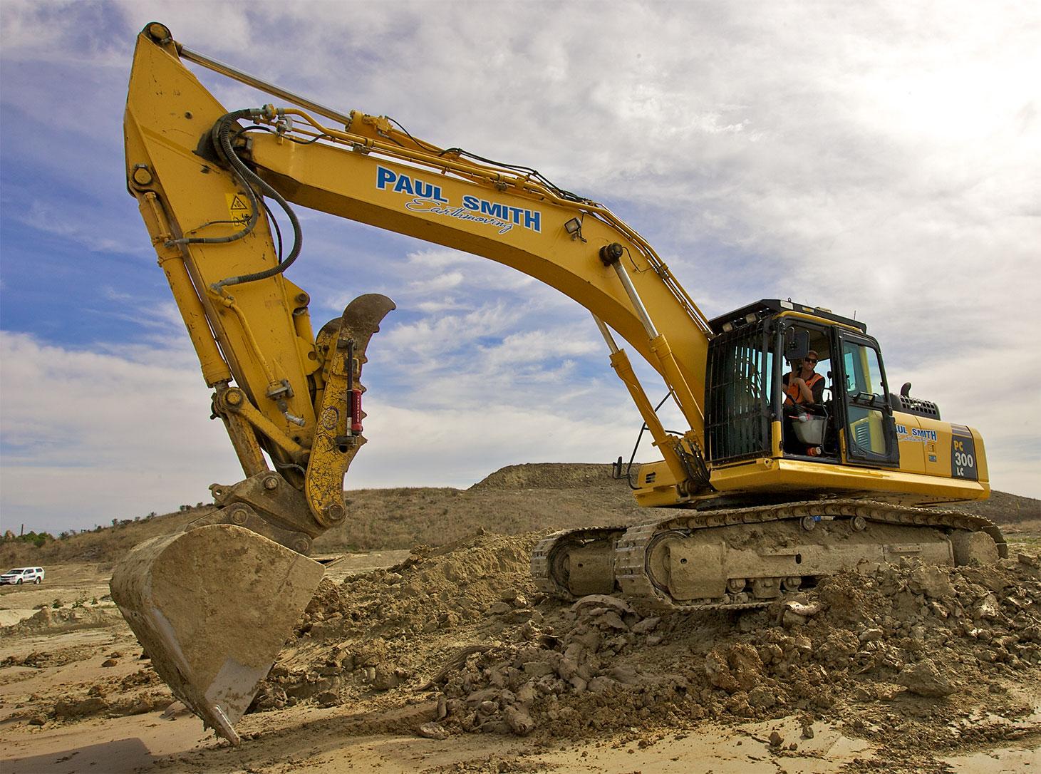 Digger at Landfill
