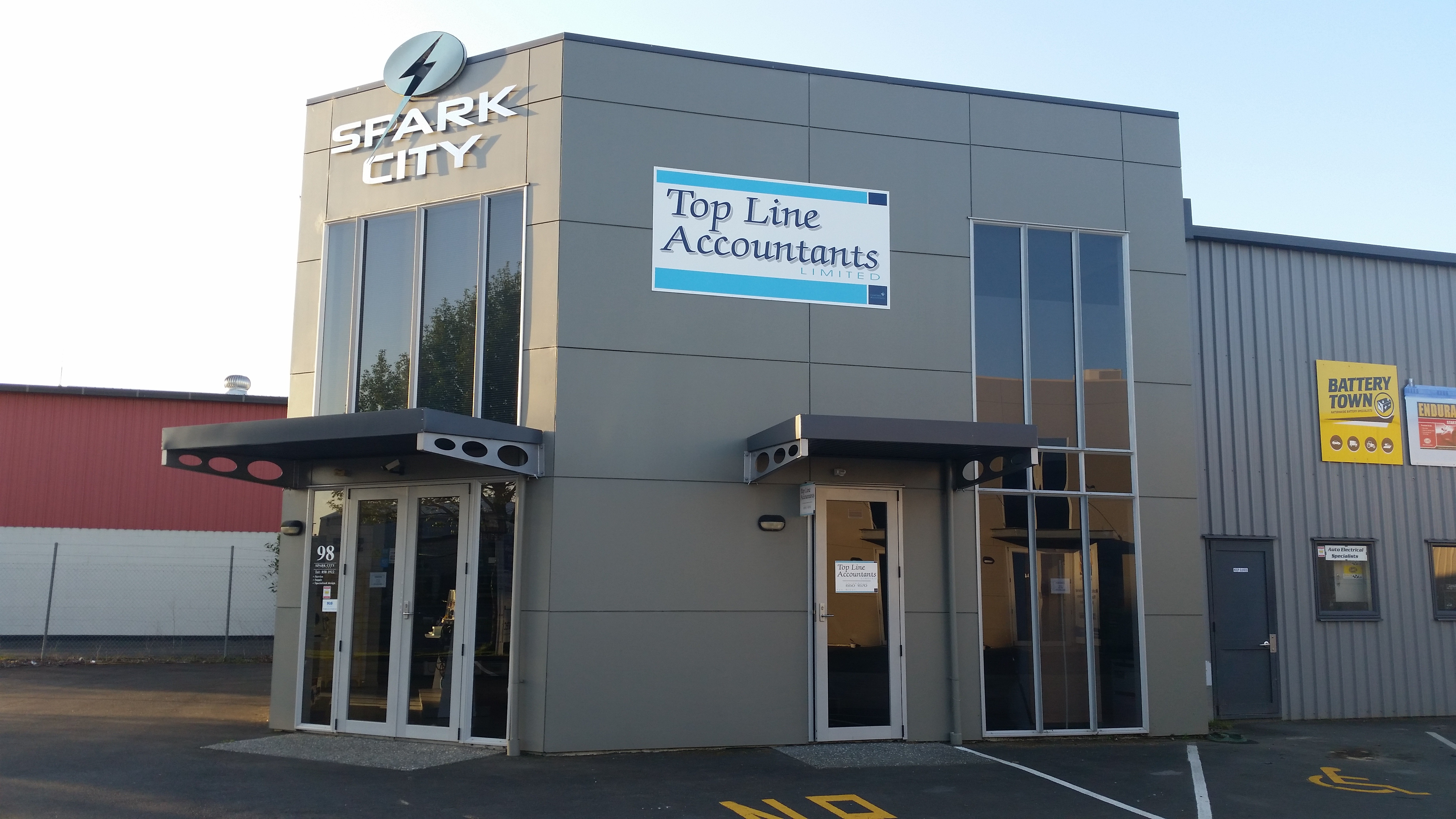 Top Line Accountants Ltd offices at 98 Vickery Street, Te Rapa, Hamilton.