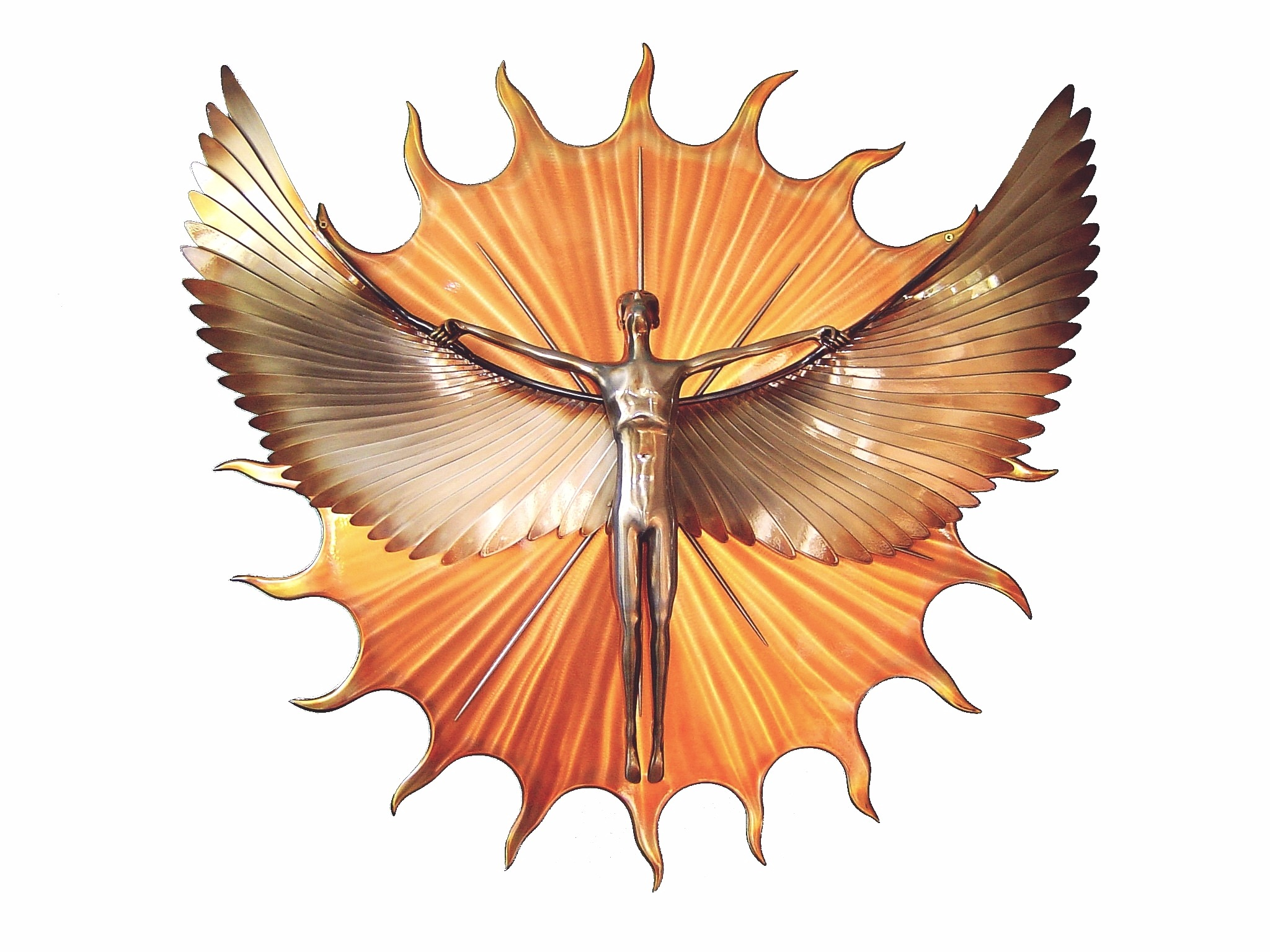 `Icarus' metal wall sculpture