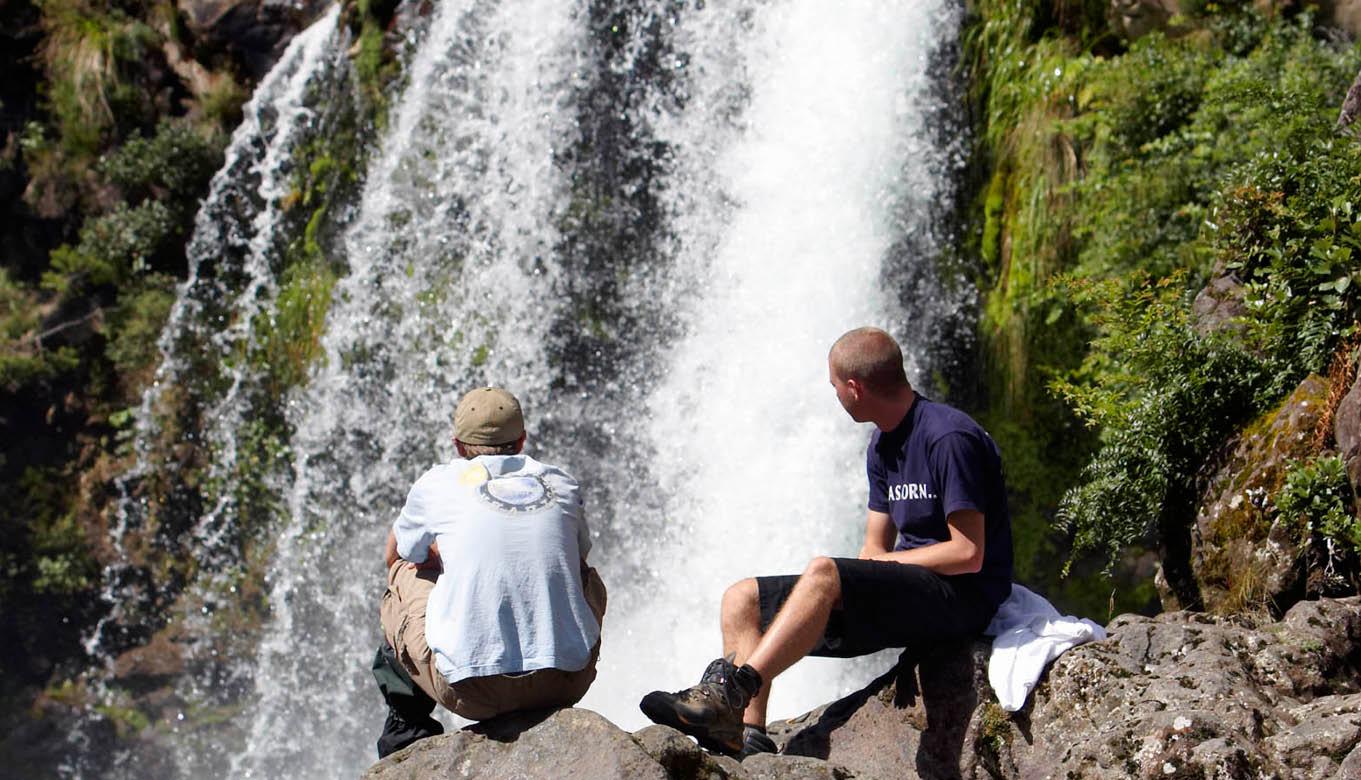 Waterfall on Ruapehu