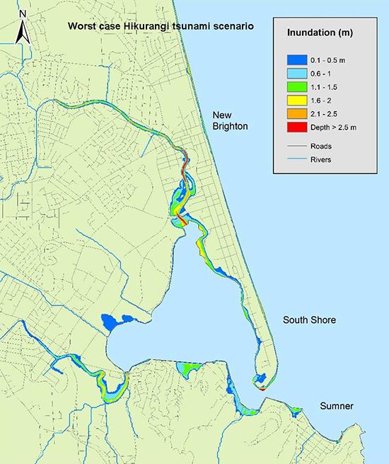 Hikurangi Tsunami Risk Map