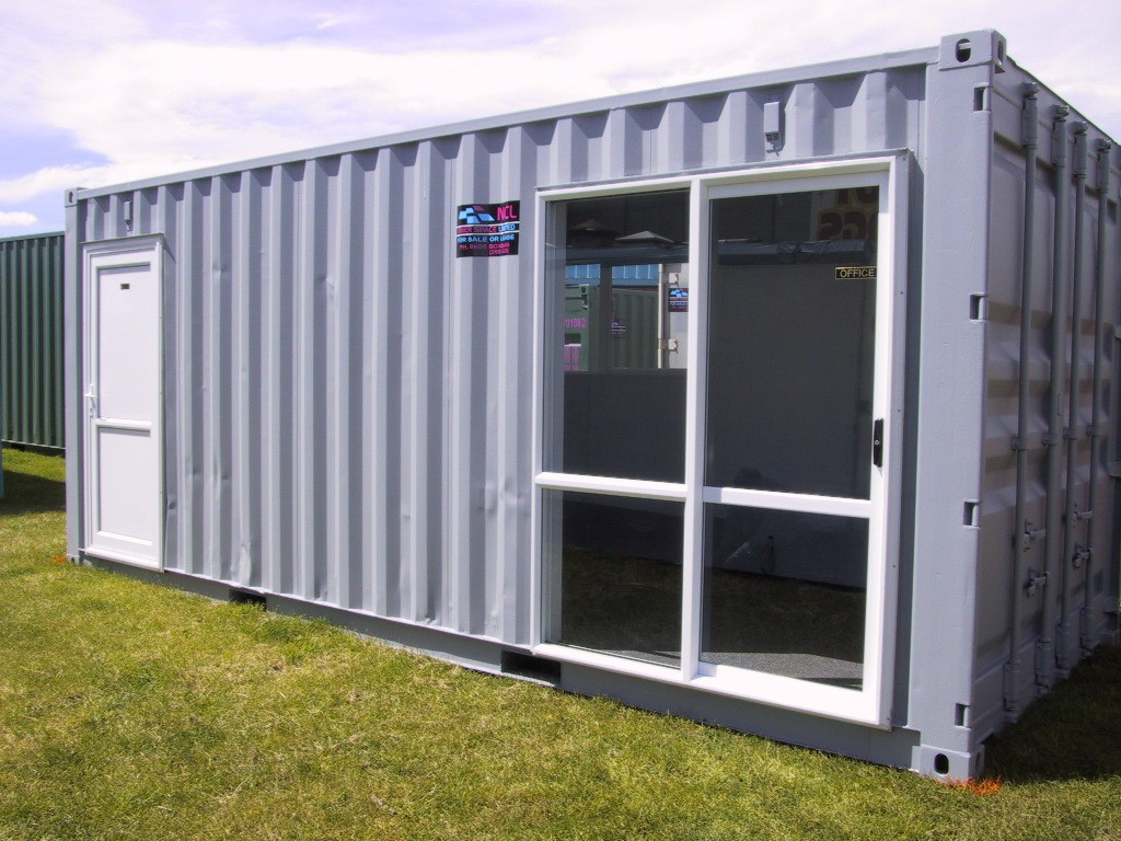 A Boxman modification, 20ft container converted into a smoko room.