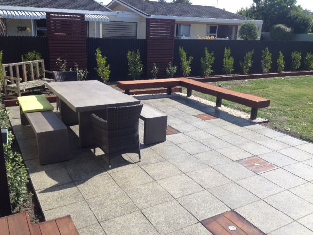 Constructive Landscape Solutions constructs outdoor BBQ area