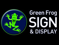 Green Frog Sign & Display