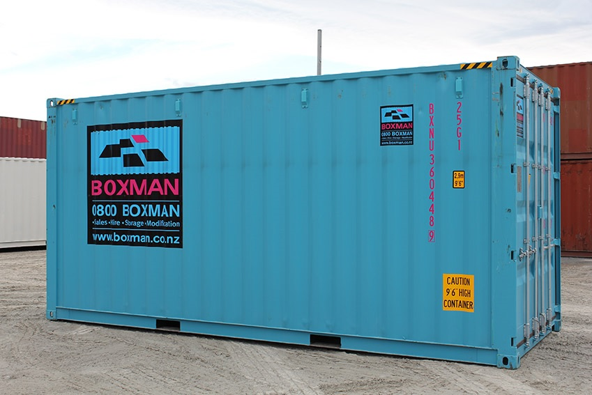 A Boxman 20 foot High Cube hire container.