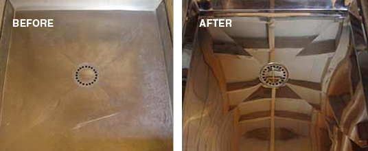 Restoring and Cleaning Stainless Steel Showers