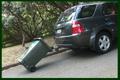 Bin Hitch - The perfect solution for steep and long driveways.