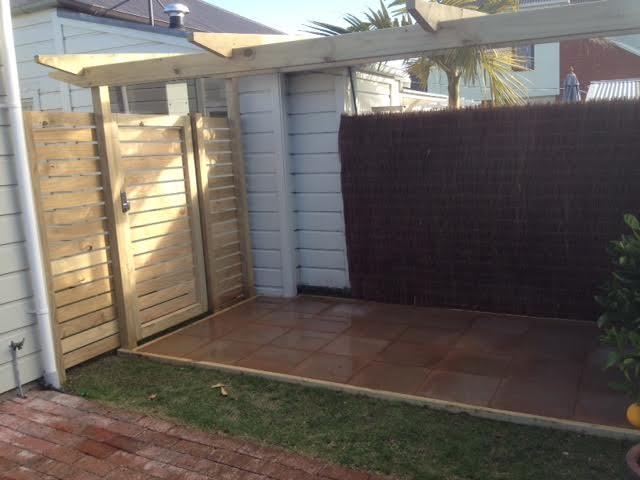 Constructive Landscape Solutions paves outdoor areas and erects security gate