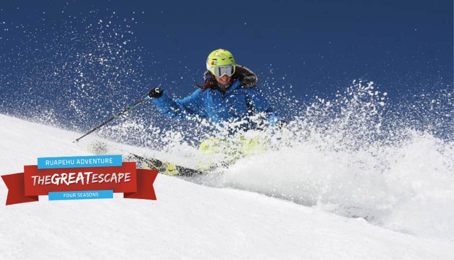 Skiing Ruapehu