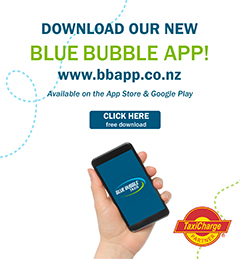 Download the Blue Bubble App