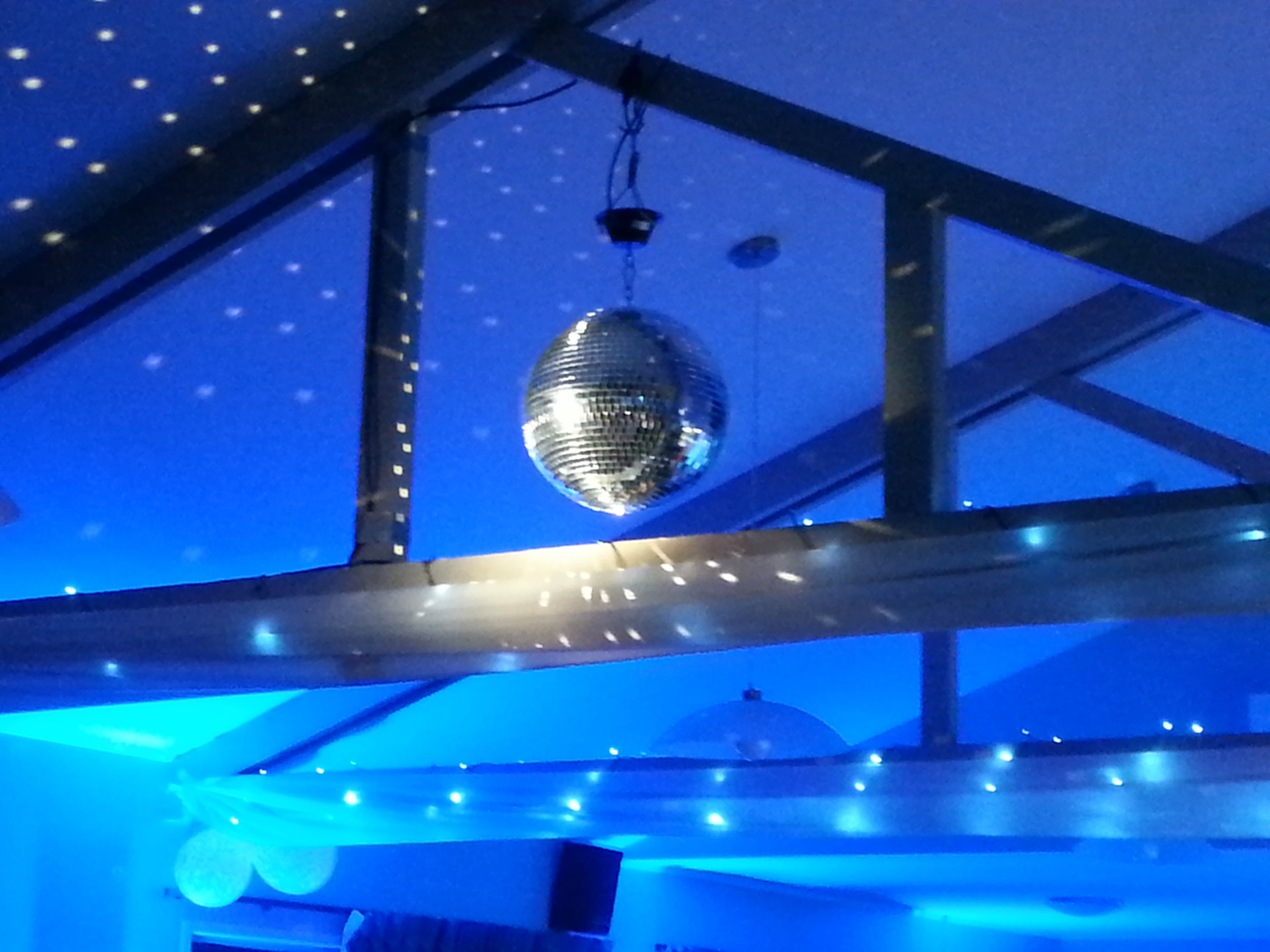 Lighting effects & Colour to create ambience to your venue.