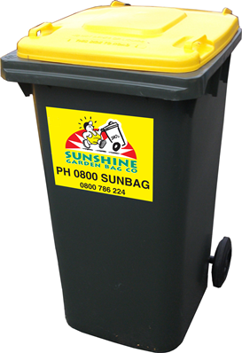 240Lt Garden Waste Bin - An easily portable bin for larger volumes of green waste. For weeds, plants, shrub prunings, grass clippings, etc.