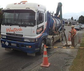 Hydrovac Truck on the Street