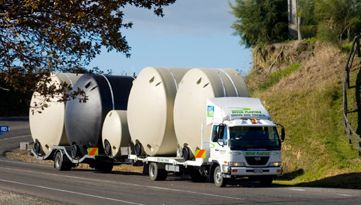 Transporting Water Tanks
