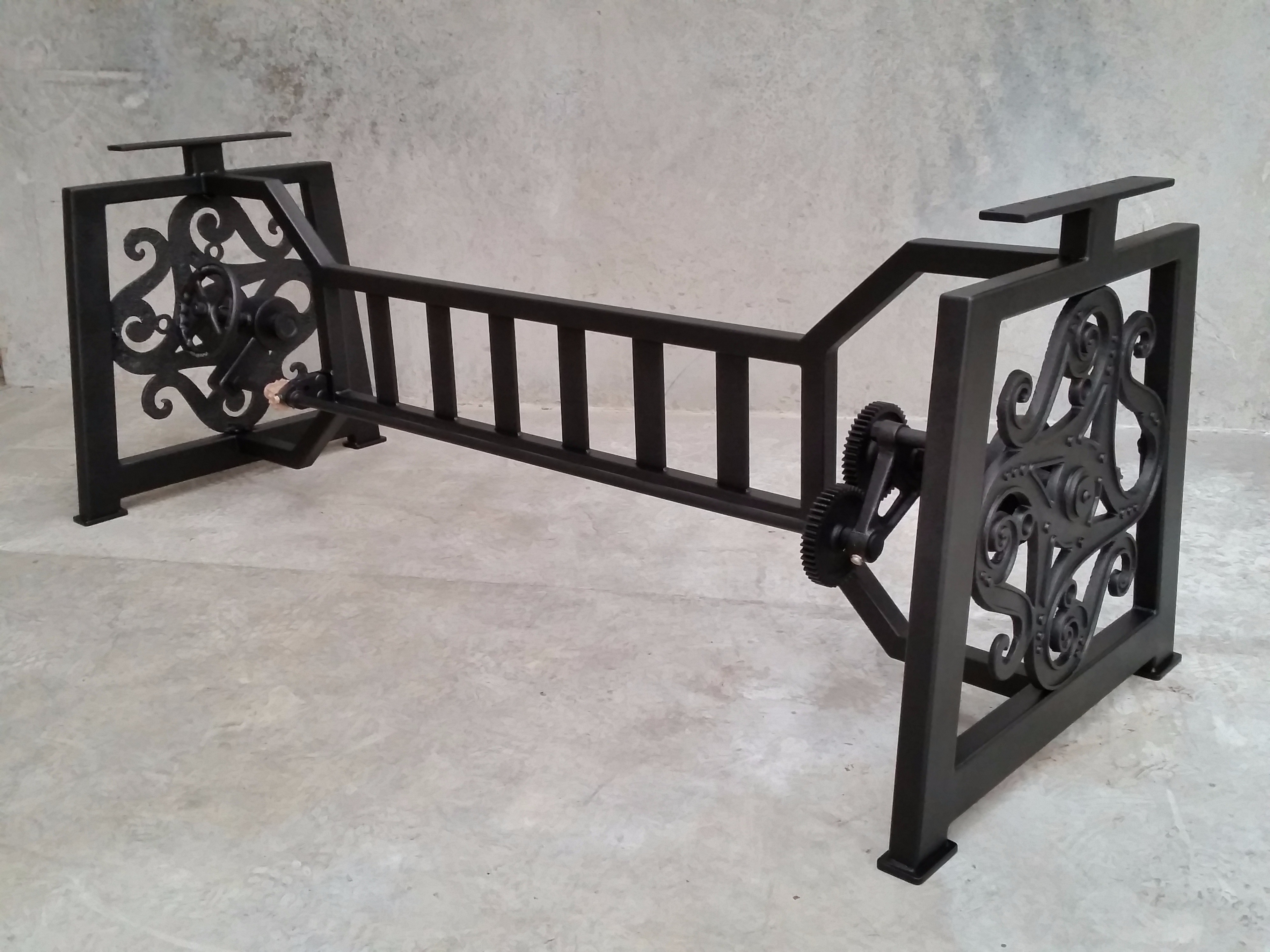 Industrial style table frame