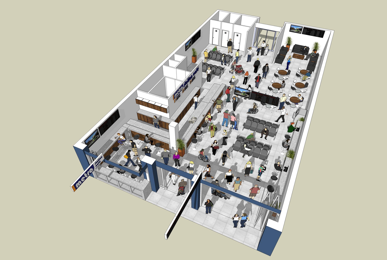 Inside Proposed Riccarton Passenger Lounge