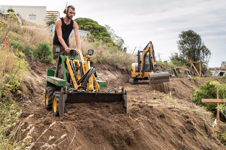 backyard projects earthmovers christchurch yellow nz