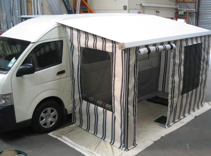 Cvana Caravan Motor Home Awnings Auckland City Yellow Nz