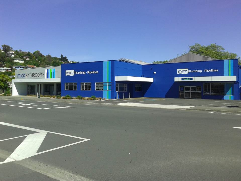Mico Bathrooms - Saint Vincent Street in Nelson - full exterior repaint - completed 2013