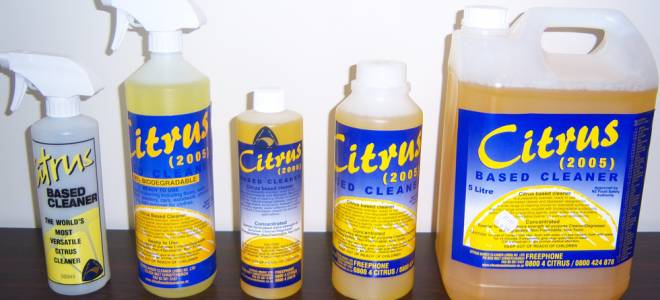 Variety of sizes - Citrus Based Cleaner
