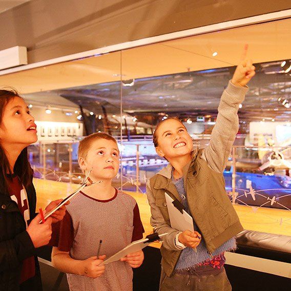 Children completing a Museum Hunt