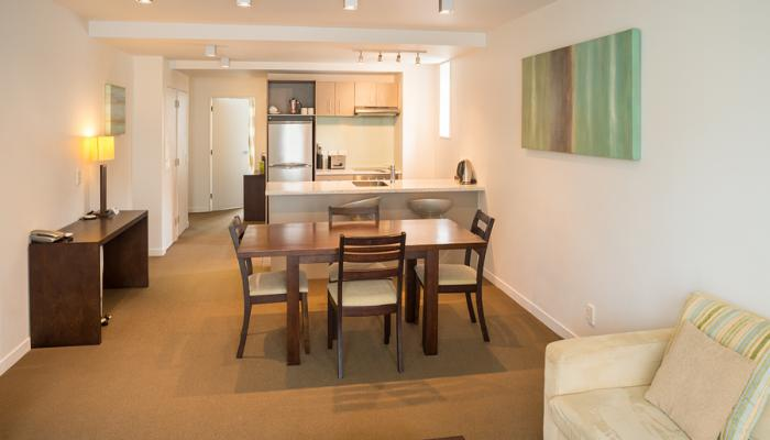 Boulcott Suites dining area