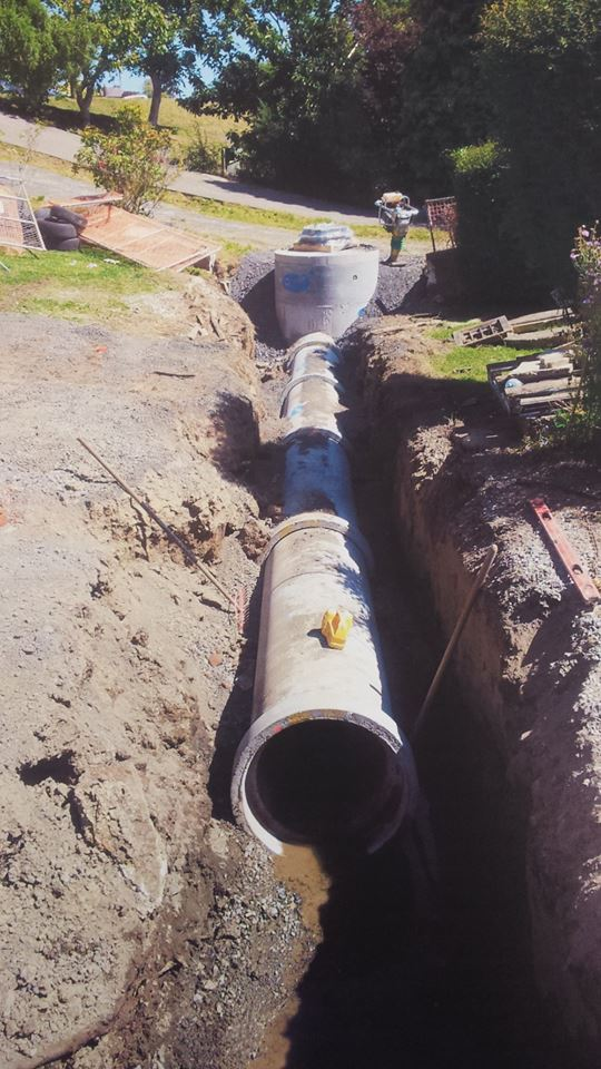 A large stormwater drainage carried out by some of our drainage team