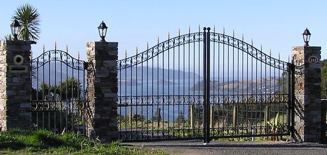 Ornate Wrought Iron Entrance Gates