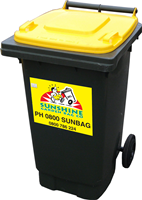 140Lt Garden Waste Bin - A light and portable bin for smaller volumes. Suitable for weeds, plants, shrub prunings, grass clippings, etc.