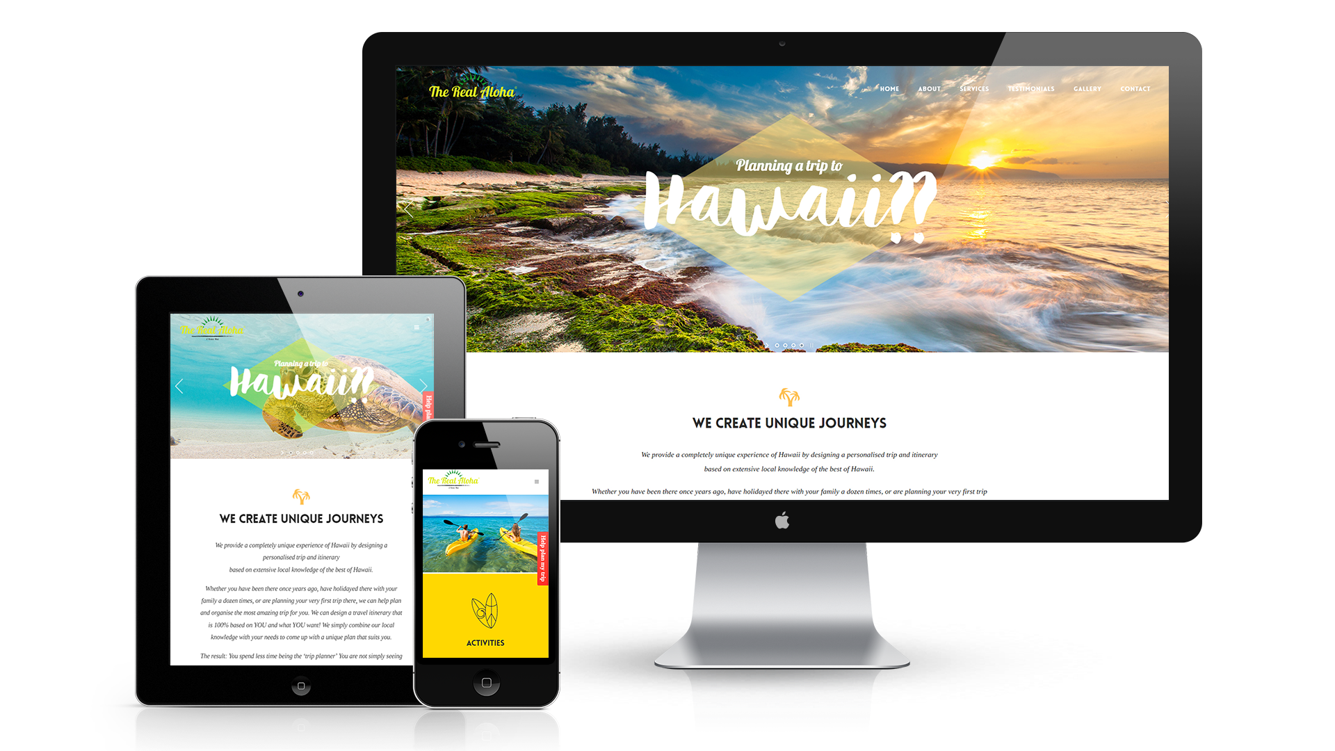 The Real Aloha Wordpress Website Design