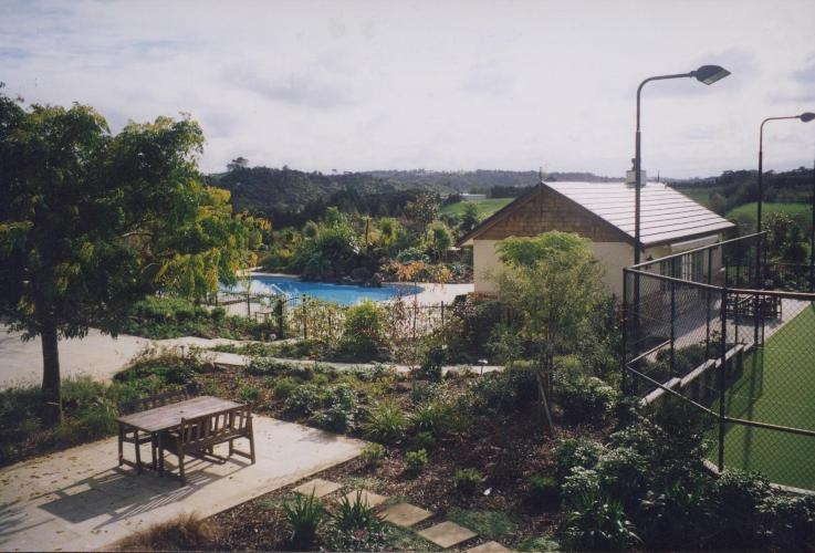 Lifestyle block - patio area, with view to pool complex