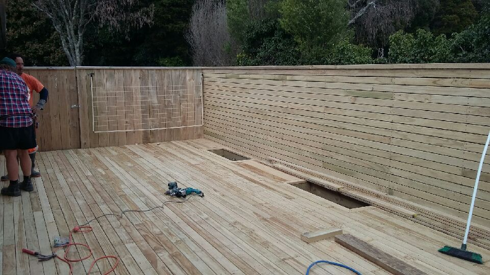 Residential Deck with Planter Boxes