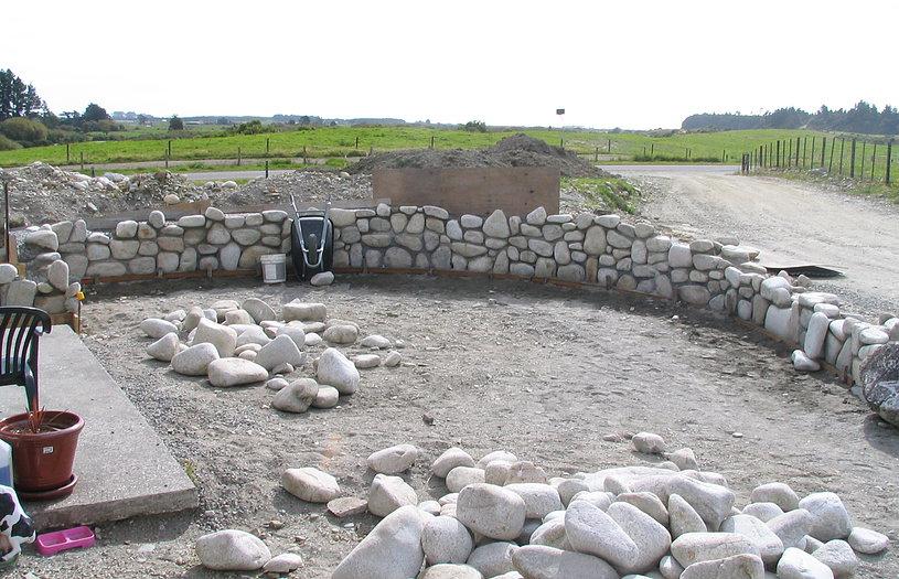 Quartz feature wall under construction