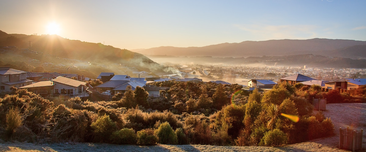 Fog over Upper Hutt City Homes