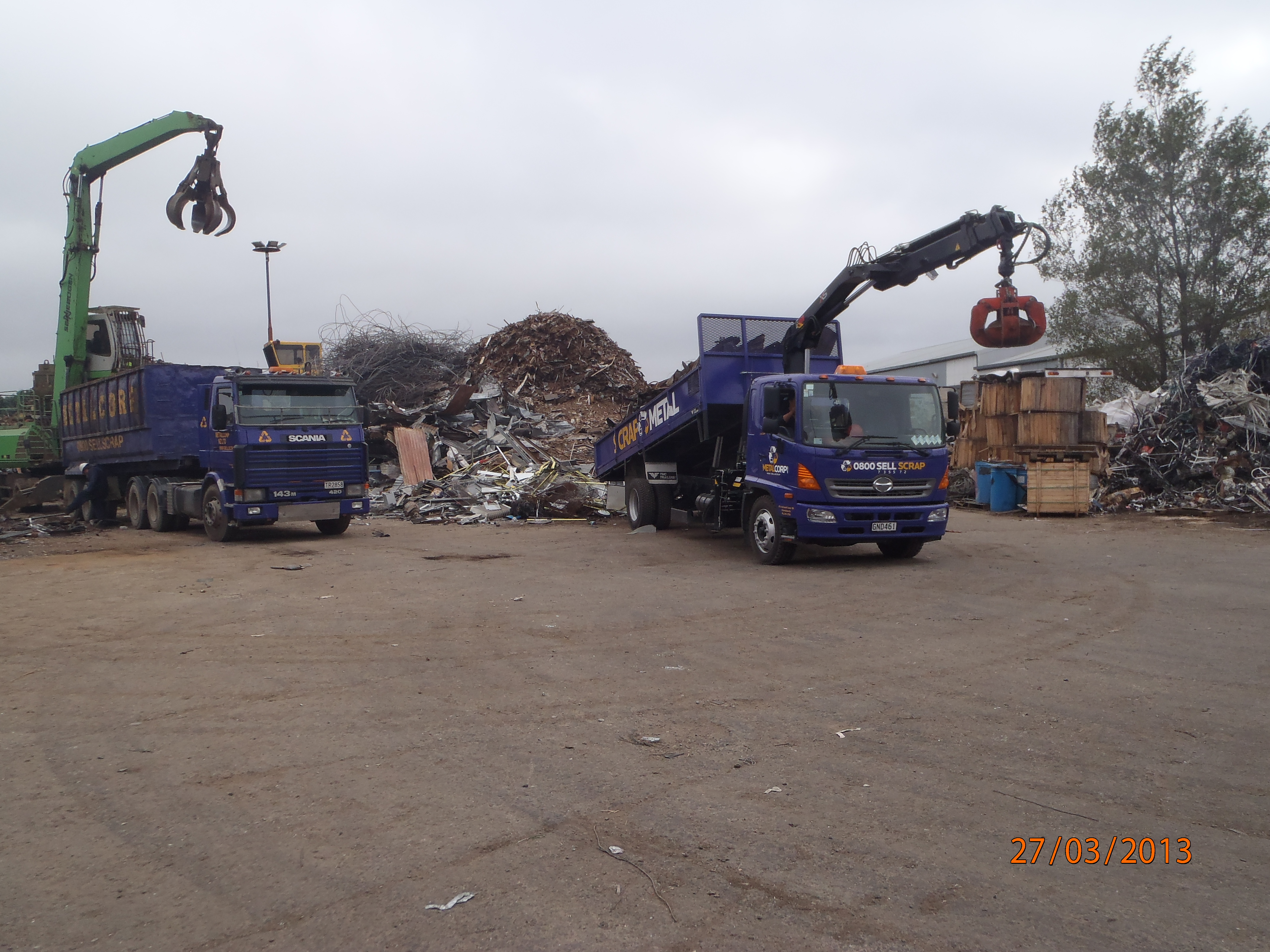 Off loading in our Christchurch yard