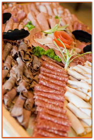 Delicious cold meat platter
